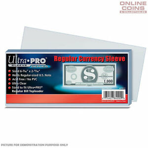 ULTRA-PRO-Regular-Currency-Banknote-Sleeves-157mm-x-68mm-100-Pack