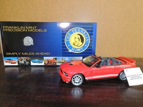 Carroll Shelby Signed Franklin Mint Red 2007 2007 Shelby Mustang GT500 Congreenible