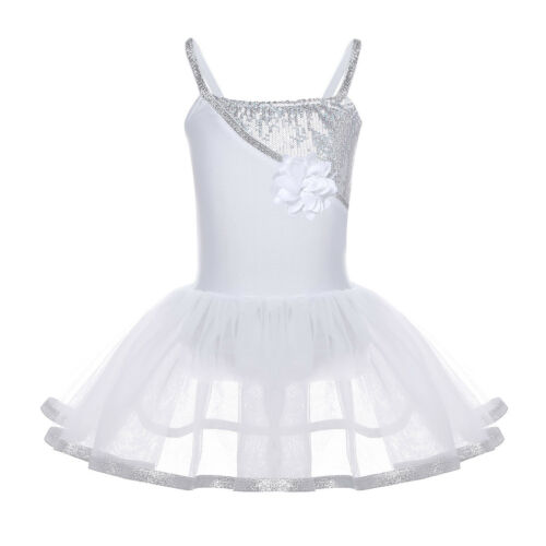Kid Girl Lyrical Dance Dress Leotard Long Skirt Modern Latin Ballroom Dancewear