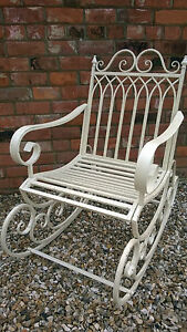 Fabulous Details About Stunning Shabby Chic Victorian Style Rocking Chair In Cottage Cream Finish 2440 Onthecornerstone Fun Painted Chair Ideas Images Onthecornerstoneorg