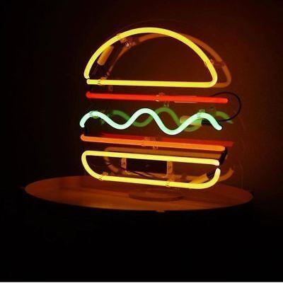 "New Hamburger Light Lamp Artwork Handmade Acrylic Neon Sign 14/"""