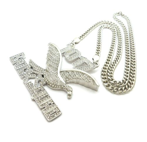 """New Hip Hop 1017 Brick Squad Pendant With 6mm 30/"""" Cuban Link Chain"""