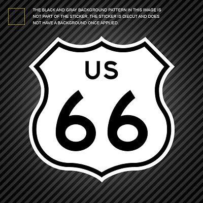 Route 66 Self Adhesive Vinyl Sticker