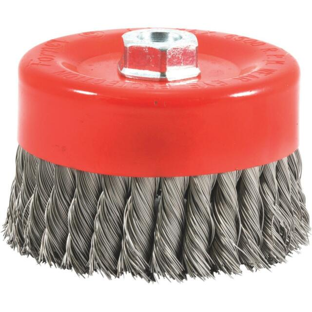 Knotted with 5//8-Inch-11 Threaded Arbor Forney 72756 Wire Cup Brush 6-Inch-by