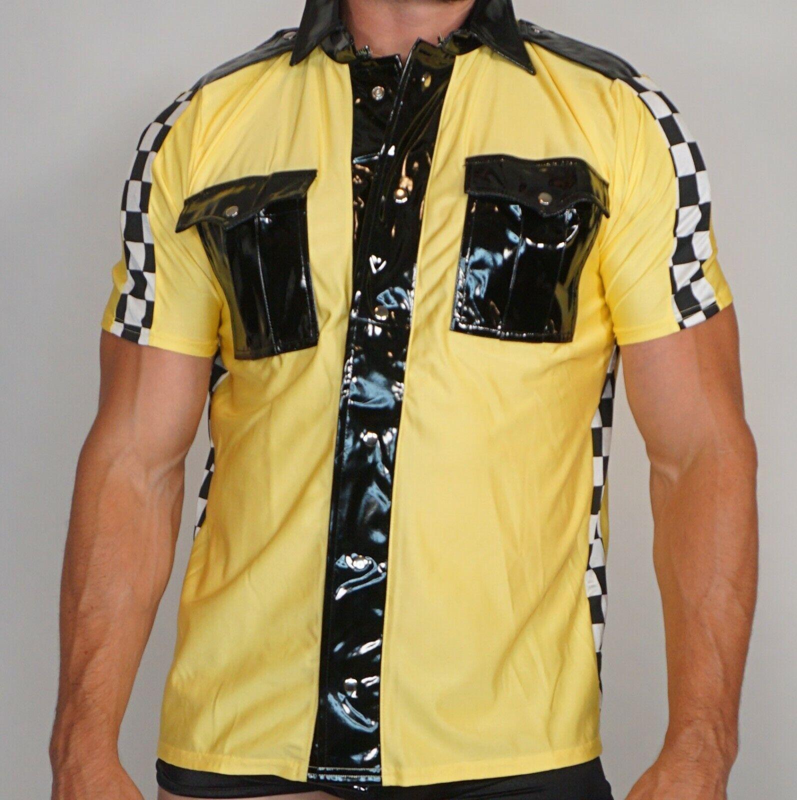 Adult Men's TAXI COSTUME L/XL (SHIRT & HAT) MALE STRIPPER
