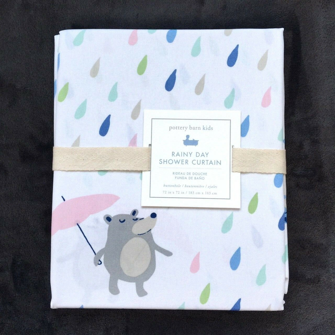Pottery barn kids Rainy Day Critters Shower Curtain