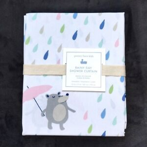 Image Is Loading Pottery Barn Kids Rainy Day Critters Shower Curtain