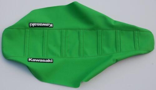 "New Green Ribbed /""Kawasaki/"" Seat cover KX125 KX250 1988-89,KX500 1988-06"