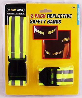 Reflective Fluorescent Safety Bands Hi Vis Arm Band & Waist Belt Adjustable