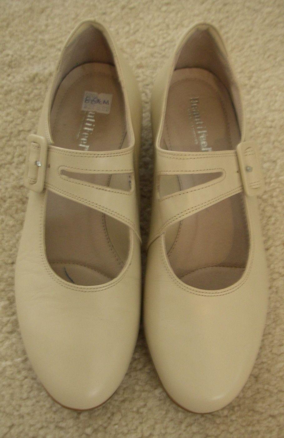 Women's Beautifeel Tara Leather Beige Heels Mary Mary Mary Jane  NWOB $290  Sz. 8 - 8.5 M 941b1a