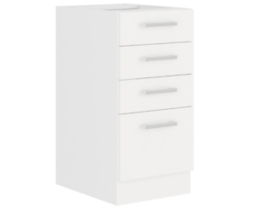 EKO White Unterschrank 40 Weiss matt Küchenzeile Küchenblock Küche Einbauküche