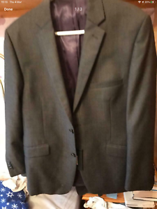 New John Lewis Grey Suit / Jacket Size 40S Wool/ Mohair  High Quality Price £220