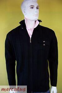 Hochwertige Strickjacke mit Zipper Palazzo Uomo schwarz 30728