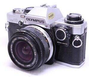 OLYMPUS-OM10-SLR-Camera-With-Olympus-28mm-f-2-8-OM-Mount-Camera-Lens-N17