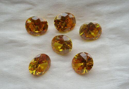 10*14 mm-Oro Piedras Cubic Zirconia Suelto Oval 5A