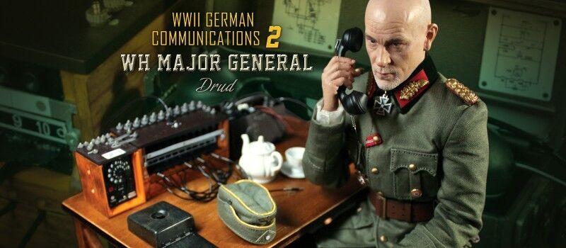 DID 1 6 action figure World War Two German Communications 2 WH Major général Drug D80123