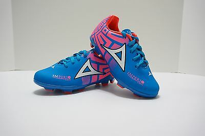 Pirma TODDLER Soccer Cleats-Style 550-Blue//Yellow//Pink-Imperio Light