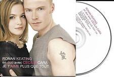 CD CARTONNE CARDSLEEVE 2T RONAN KEATING/CECILIA CARA JE T'AIME PLUS QUE TOUT