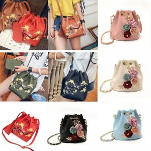 Image Is Loading Women 039 S Drawstring Shoulder Bucket Bag Tote