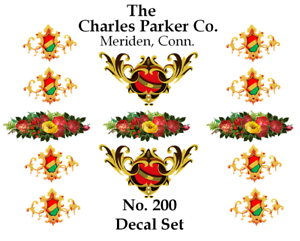 Charles Parker No. 200 Coffee Grinder Mill Restoration Decal Set