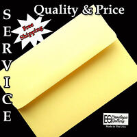 Pastel Canary Yellow Envelopes For Cards Invitations Announcements Baby A2 A6 A7