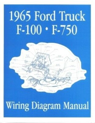 FORD 1965 F100 - F750 Truck Wiring Diagram Manual 65 | eBay