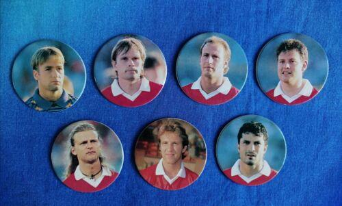 Various Teams Panini Caps Snickers Euro 96 Pogs