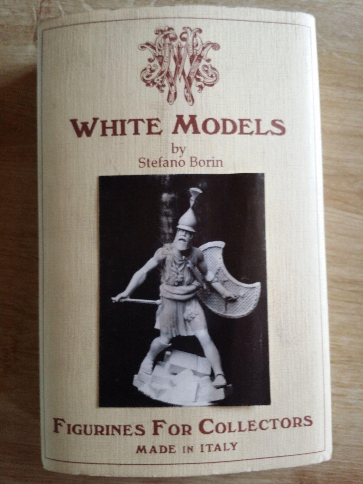 Figürchen aus Bleikristall Vintage  Krieger Antik   Neu Nie Aufbauen Weiß