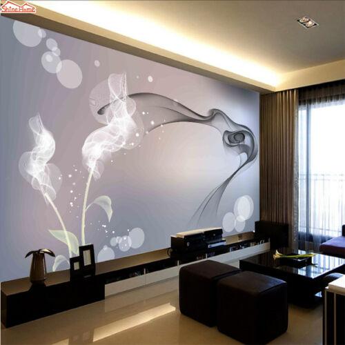 3D Abstract Smoke Pattern Self-adhesive Living Room Wall Mural Wallpaper Decor