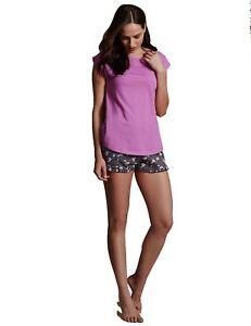 EX-M-amp-S-Marks-And-Spencer-Cap-Sleeve-Pyjama-Top