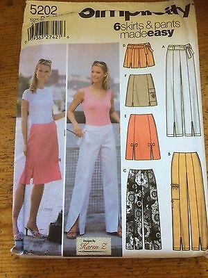 Simplicidad 6 Fácil Faldas Y Pantalones De Patrón De Costura De Papel. Nuevo Y Sin Cortar 5202 Talla 6-12 Excelente Efecto De CojíN