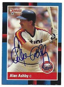 Autographed/Signed 1988 Donruss #163 Alan Ashby Houston Astros Tough Signature