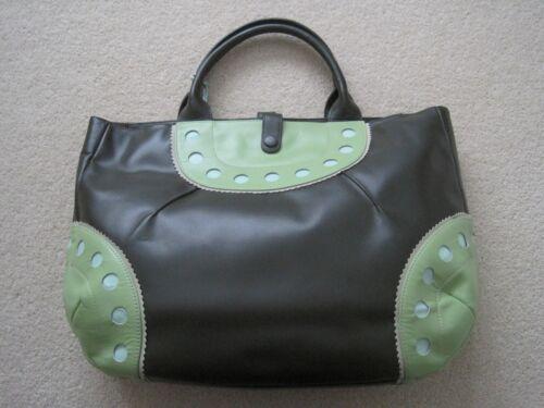 Véritable vert sac bleu cercle Découpe vert olive pâle lime Radley rqvCr