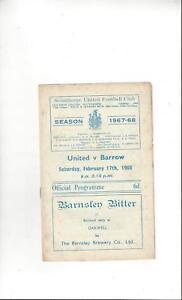 Scunthorpe United v Barrow Football Programme 196768 - South Witham, United Kingdom - Scunthorpe United v Barrow Football Programme 196768 - South Witham, United Kingdom