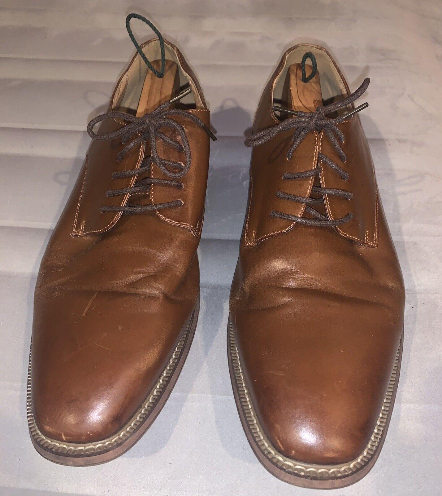 JOSEPH ABBOUD Men's Brown Leather Dress Shoes size 13D