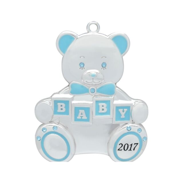 baby boy first christmas ornament crystals swarovski harvey lewis 2017 - Baby Boy First Christmas Ornament