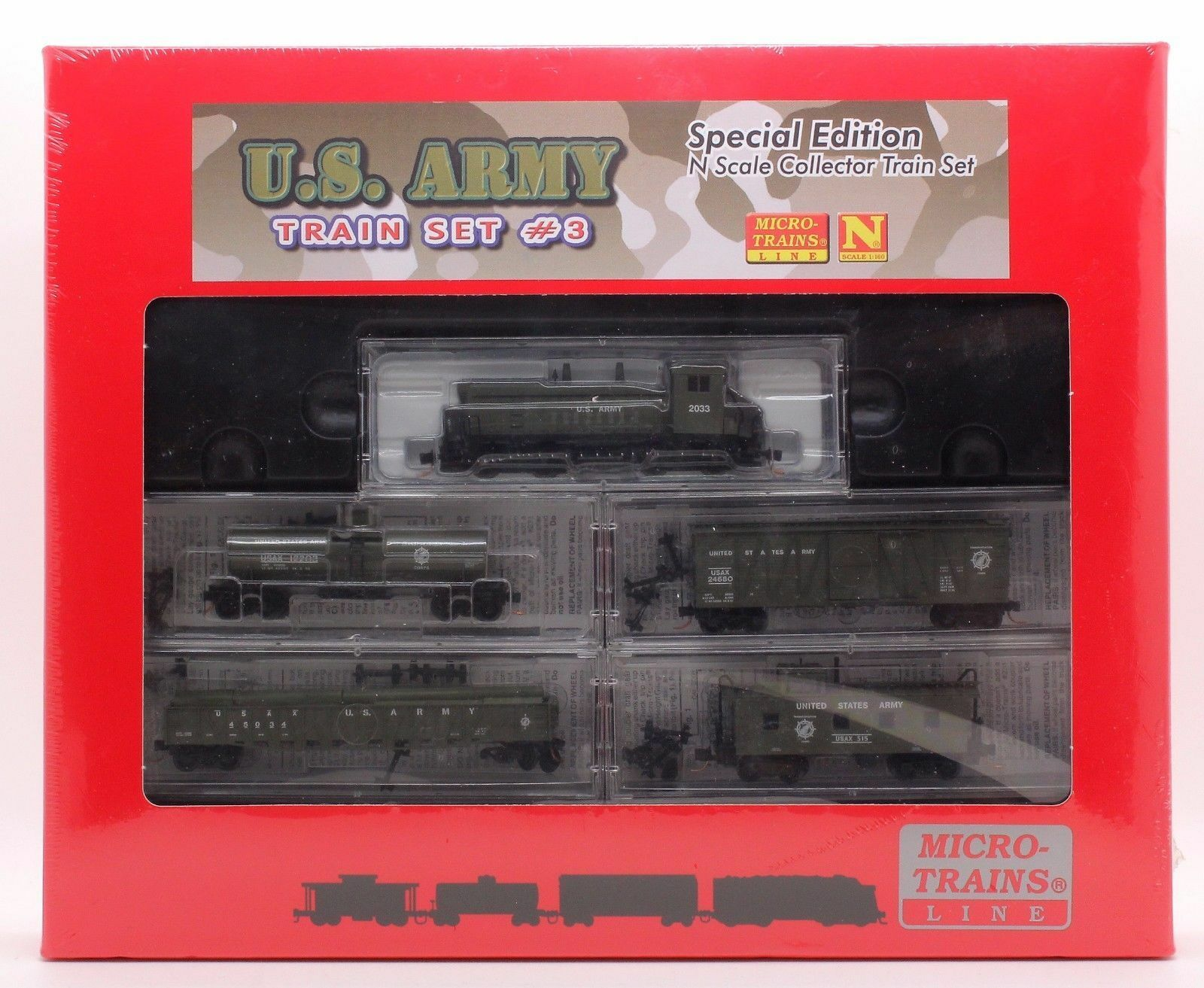 MTL N SCALE SPECIAL EDITION U.S.ARMY TRAIN SET  1 NEW & SEALED