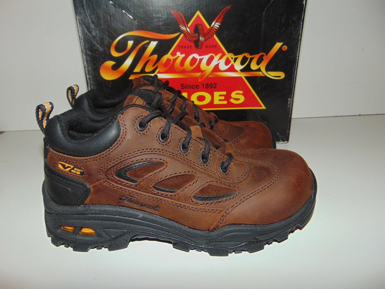 NEW THgoldGOOD Composite SAFETY TOE MENS 4 4.5 M Wide Women 804-4080 Sport Oxford