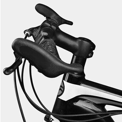 Mountain Bike Handlebar Bar Ends Black Rubber Fit for 22.2mm Bicycle Handlebar