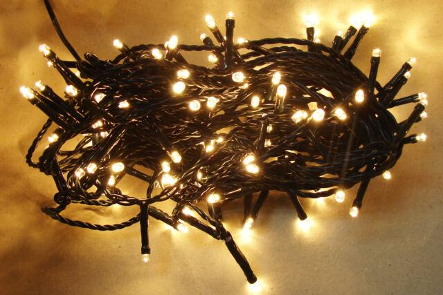 LOGO Weihnachtskette Weihnachtsbeleuchtung Lichterkette LED Warm Weiss 120 AA