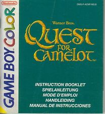 - SPIELANLEITUNG für Quest for Camelot - Game Boy Color Spiel -
