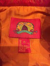 "Gorgeous, Insullated, orange & red ""Shanghai Tang"" Silk jacket"