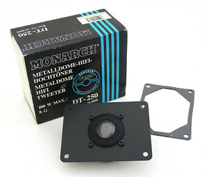 Monacor-Monarch-DT-250-Original-Metalldome-Hifi-Tweeter-NOS-Emballage