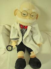 """Dr I.N. Stein Muppets 26"""" Large Hand Puppet Glasses Magnifying Glass & Lab Coat"""