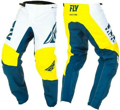 Choose Size Fly Racing MX Motocross F-16 Pants Yellow//White//Navy