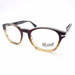 1b430eb7e4362 Persol 3122 V 1026 48mm Brown Striped New Authentic Eyeglass Frames ...