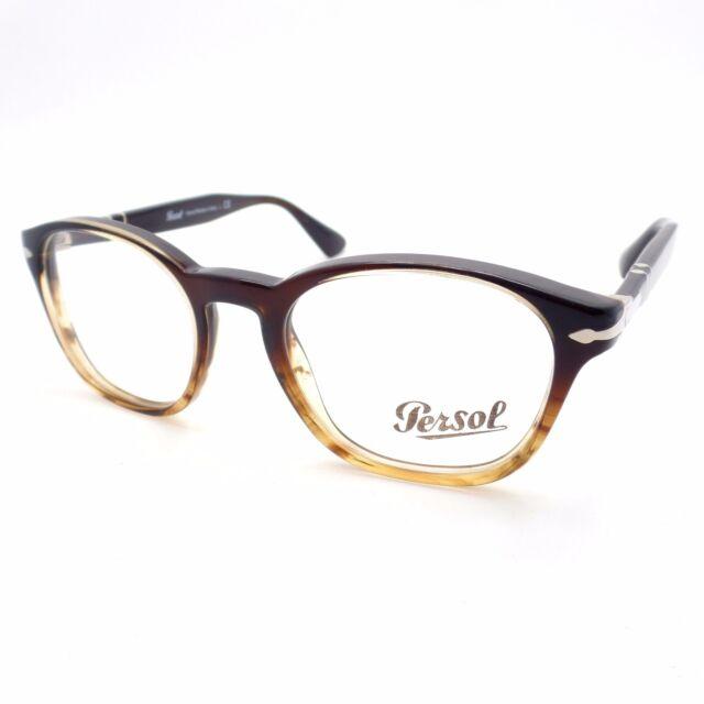 Persol Eyeglasses Frame Men Oval Brown Po3122v 1026 | eBay