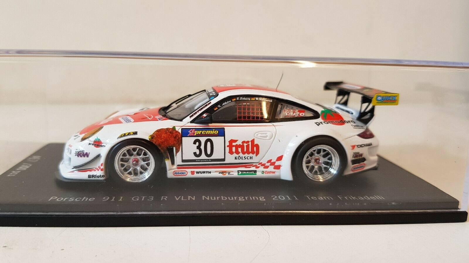 Spark-Porsche 911 GT3 R Frikadelli Racing Vln Nurburgring 2011  30 1 43