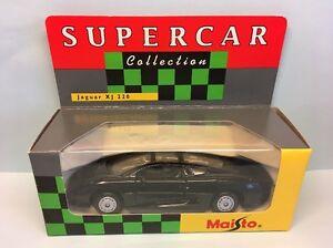 Diecast-Maisto-Supercar-Collection-Jaguar-XJ-220-Very-Good-in-Box