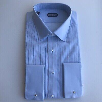 Y-1003996 New Tom Ford Lavender French Cuff Tuxedo Shirt Size 15.5 39 $770